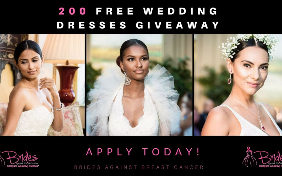 Free Wedding Dress for Breast Cancer Awareness Month